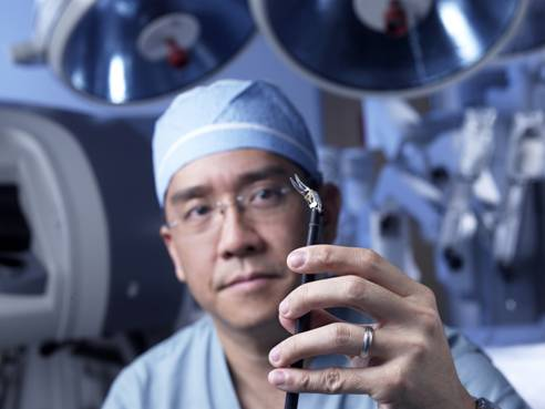 Multi-jointed robotic instruments allow the surgeon to operate within the body with the same facility as tiny human hands
